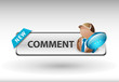 comment button, Comment speech icon and button