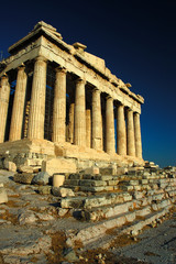 The Parthenon , a temple on the Athenian Acropolis, Greece