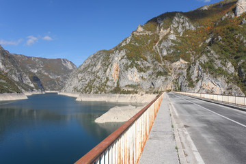 Bridge over barrage Pivsko lake, Montenegro