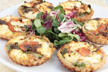 Mini quiches or tarts