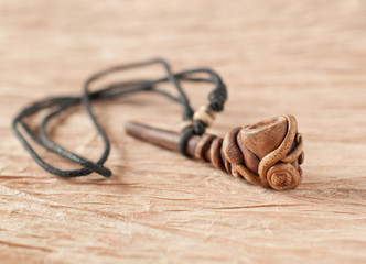 smoking pipe necklace