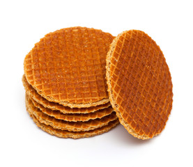 Dutch Waffles isolated on white background