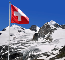 Strahlhorn,Rimpfischhorn and Allalinhorn  - Swiss Alps