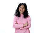 A Beautiful Asian Woman Laughs Joyfully