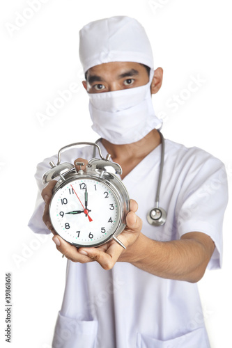 Surgeon with an alarm clock