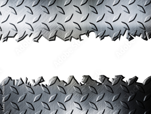 cracked diamond metal plate