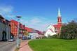 Stadtidylle mit Kirchturm