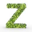 Texteffekt Moleküle grün Z