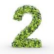 Texteffekt Moleküle grün Zahl 2
