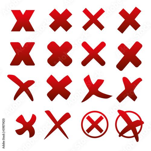 x verbot kreuz wahl unkorrekt zeichen sammlung falsch error