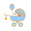 Baby buggy. Vector illustration on white background