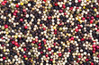 Texture of Mixed Colored Peppercorn