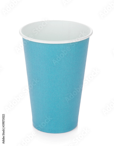 Blue paper coffee cup