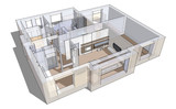 3d apartment sketch - 39873691