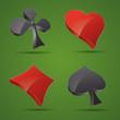 ico ass kreut karo pik poker mau-mau karten spiel casino herz 3d