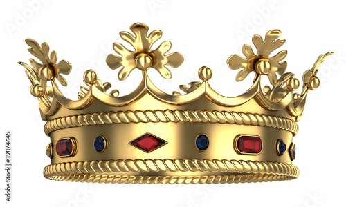 Golden royal crown