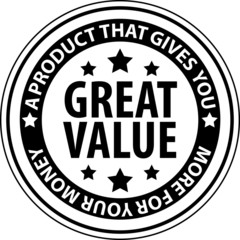 Great value Label