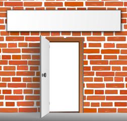 Tür Mauer Haus Schild