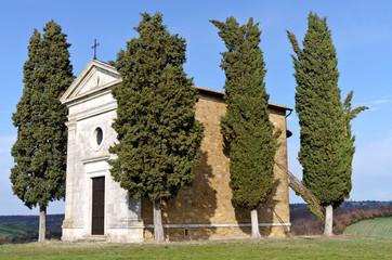 Toscana: Cappella di Vitaleta a S. Quirico d'Orcia (SI) 3