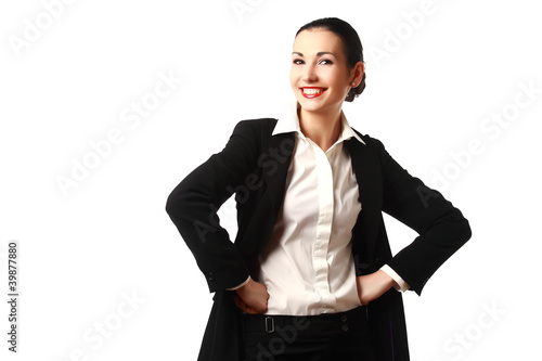 Happy attractive business woman