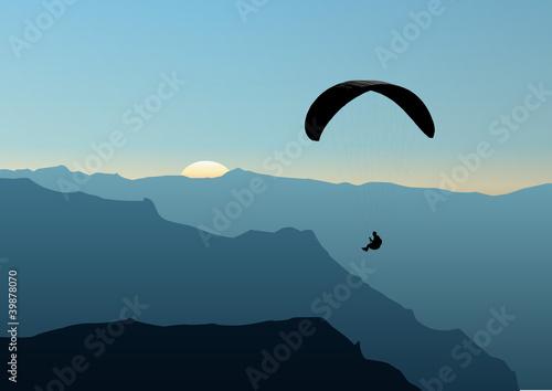 Fototapeta Parapente-montagne