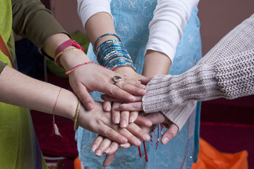 Indian women hands