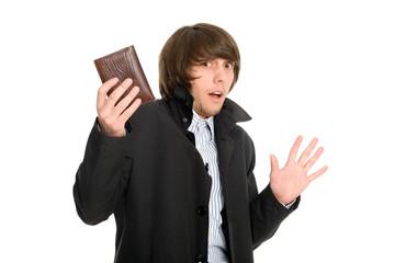 Panic man gave his wallet