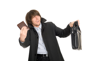 Panic man gives the personal belongings