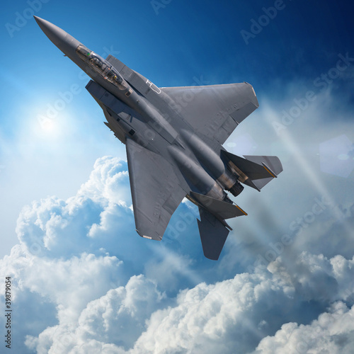 F-15 Eagle in high Attitude