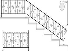 Schmiedeeisernen Treppe, Tor, Streikposten, Grill
