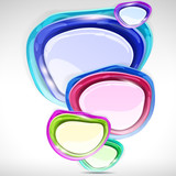 Speech bubbles - abstract lustrous background. poster
