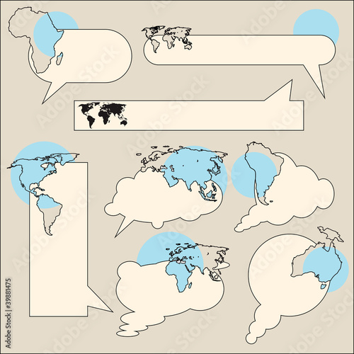 Text balloon continent