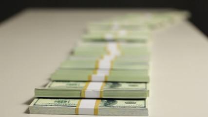 Dollar falls.
