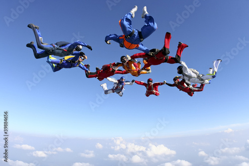Leinwandbild Motiv Skydiving photo
