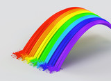 Rainbow and splashes made from paint.