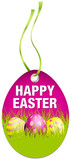 Hangtag Happy Easter Eggs Pink