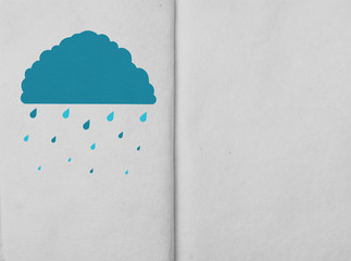 weather icon on hand made paper