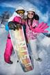 Ski fun avec snowboard