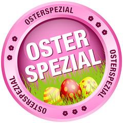 Button Osterspezial Ostereier pink