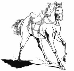 馬(線画01)
