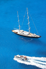 Yachting in gorgeous tropical azure waters