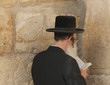 Rabbi prays at the Wailing Wallю Jerusalem