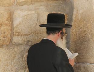 Rabbi prays at the Wailing Wallю Jerusalem