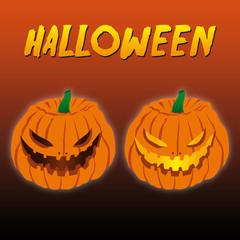 Halloween - smiling pumpkins