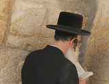 Rabbi at Western Wall, Jerusalem