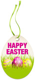 Hangtag Happy Easter Eggs Green/Pink