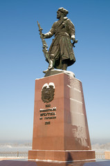 Monument to founders of the city of Irkutsk from townspeople