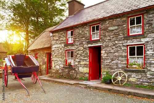Traditional Irish cottage house architecture
