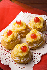Zeppole di San Giuseppe - italian pastry for St.Joseph's day