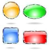 Icone Web Cristallo Colori-Crystal Web Buttons Colors-Vector